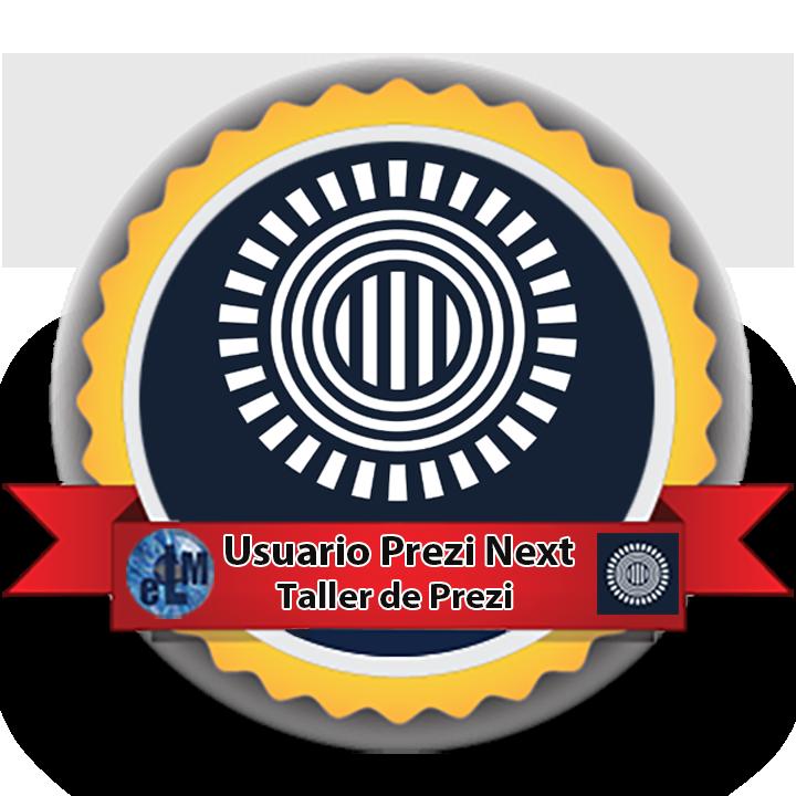 Medalla usuario Prezi Next